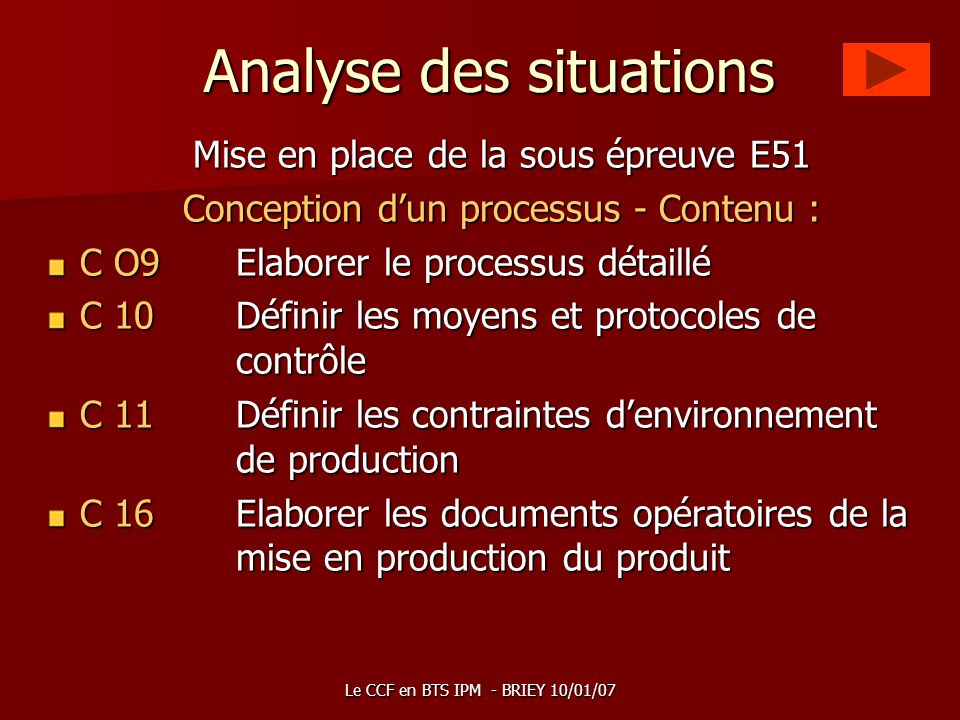 Analyse des situations