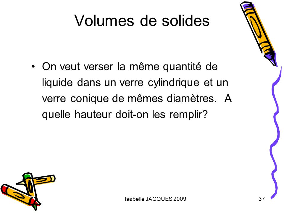 Volumes de solides
