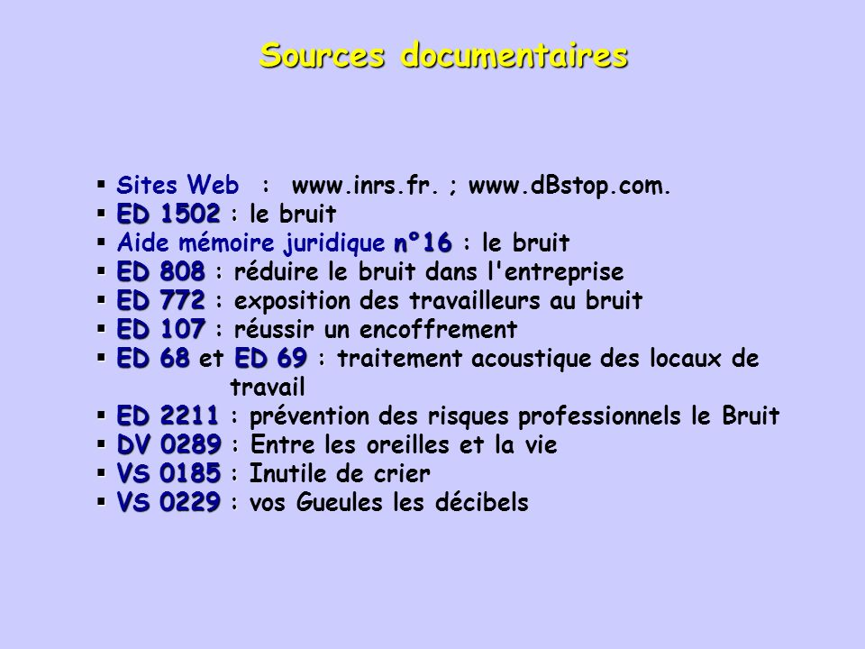 Sources documentaires