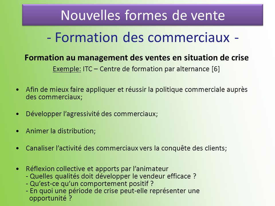 Formation au management des ventes en situation de crise