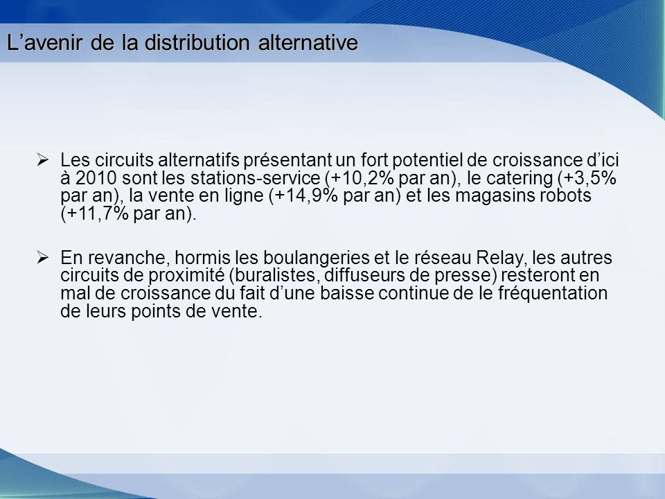 L'avenir de la distribution alternative