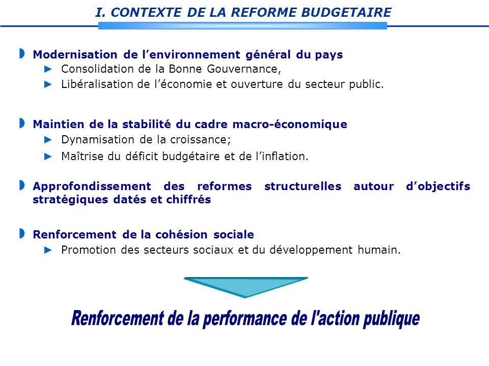 Renforcement de la performance de l action publique