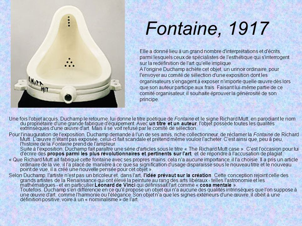 Fontaine, 1917