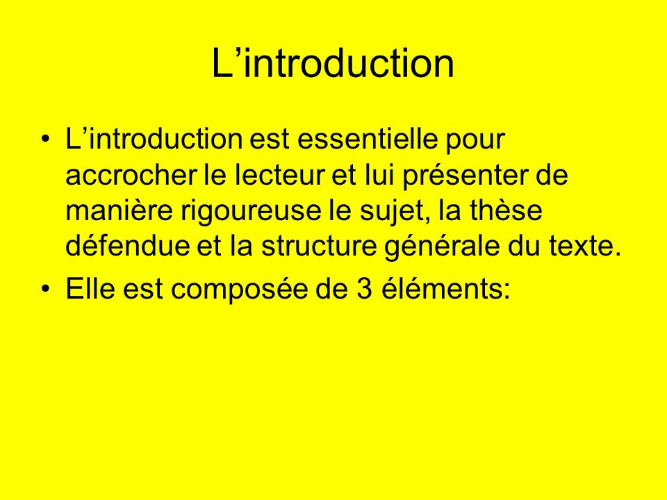 L'introduction