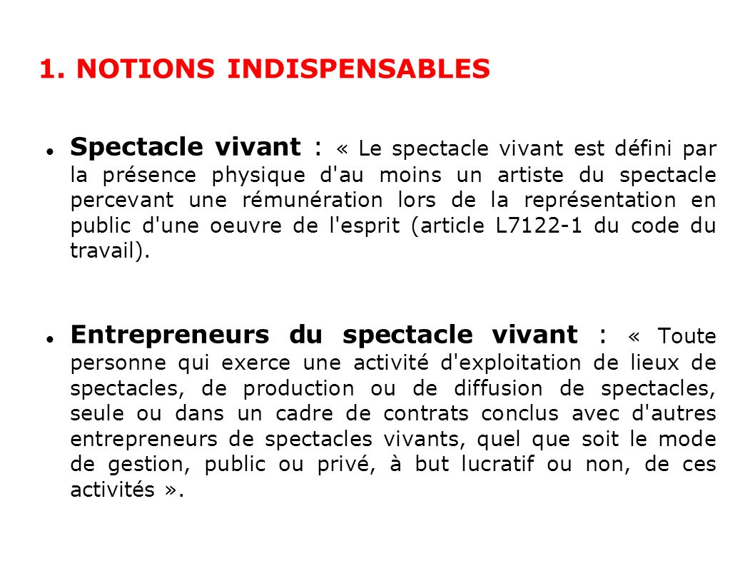 1. NOTIONS INDISPENSABLES