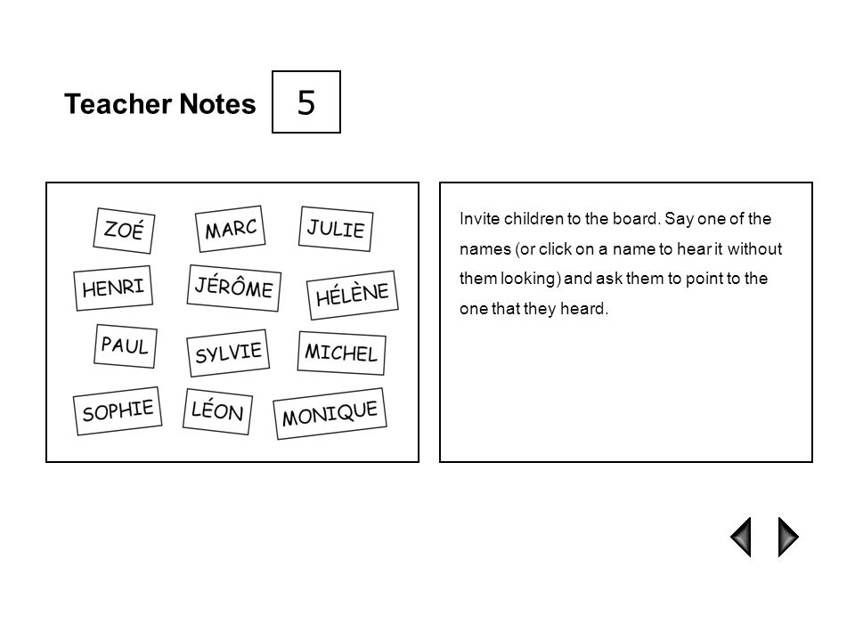 5 Teacher Notes.