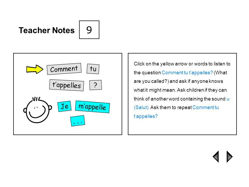 9 Teacher Notes.