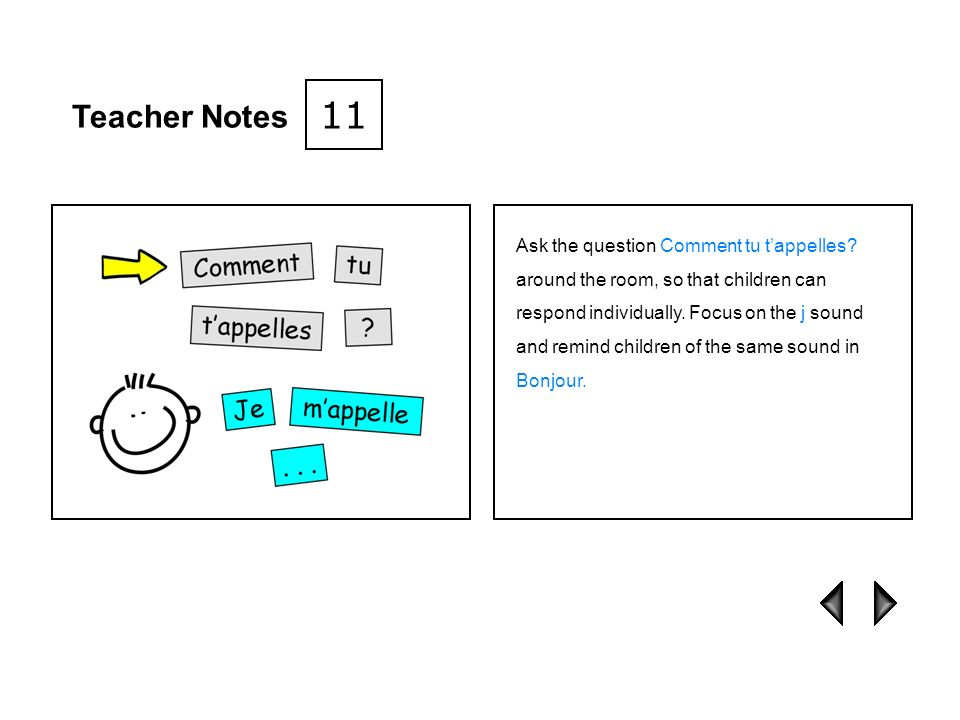 11 Teacher Notes.