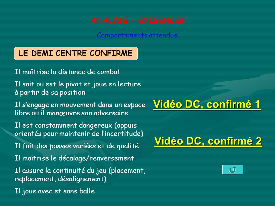LE DEMI CENTRE CONFIRME