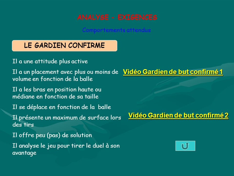ANALYSE - EXIGENCES LE GARDIEN CONFIRME