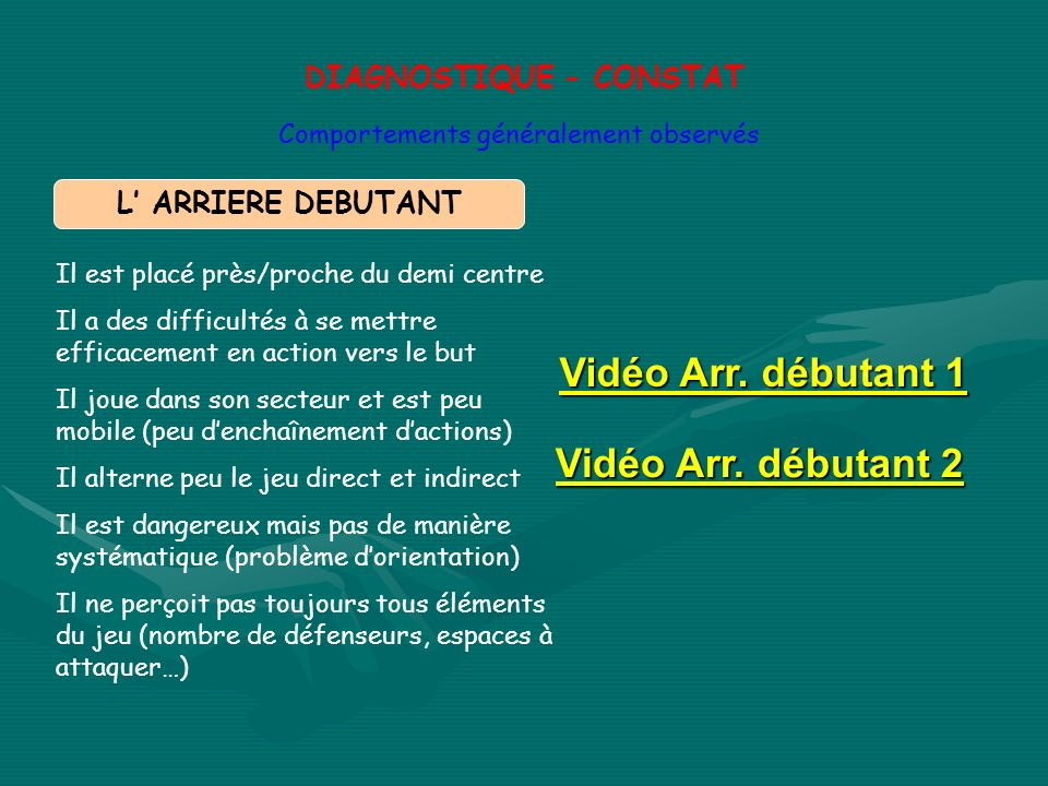 DIAGNOSTIQUE - CONSTAT