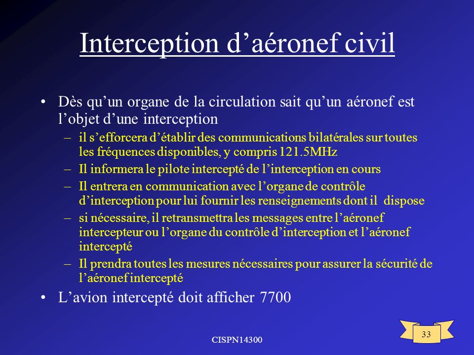 Interception d'aéronef civil
