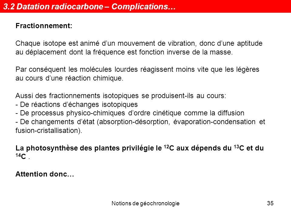 changements de datation du radiocarbone