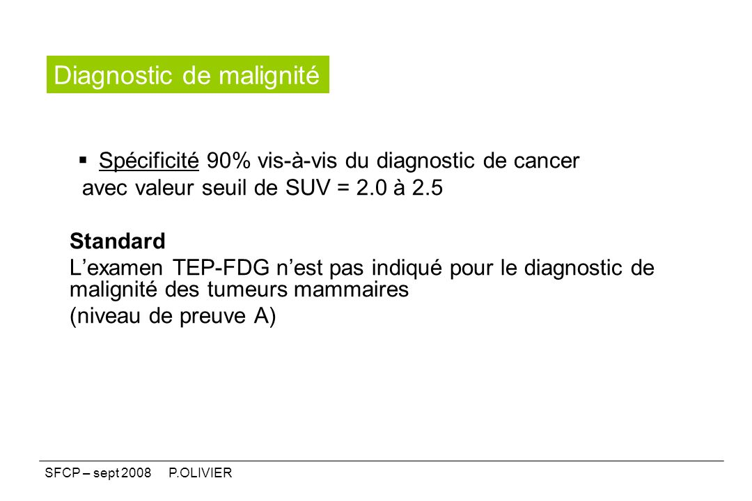 Diagnostic de malignité