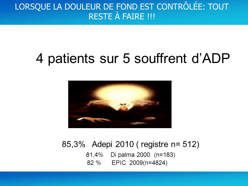 4 patients sur 5 souffrent d'ADP