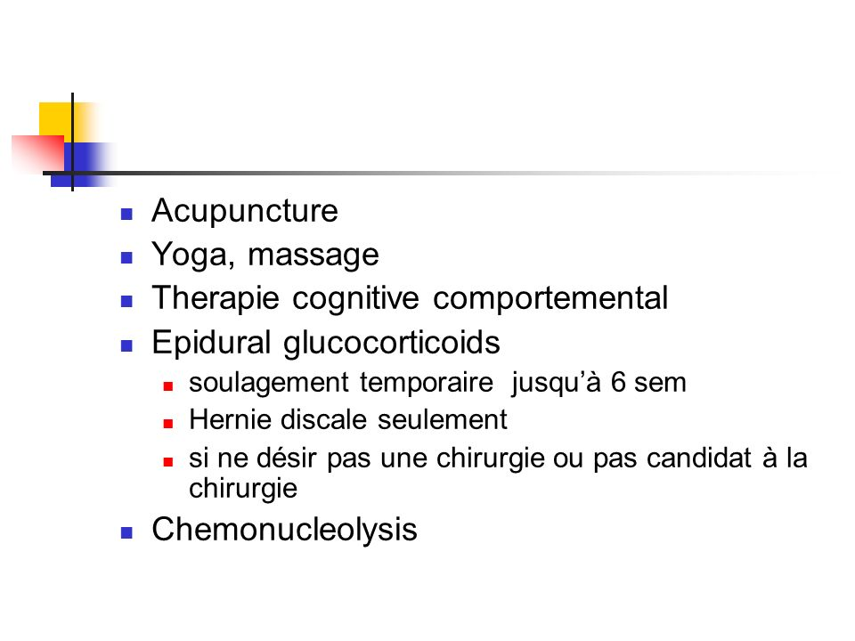 Therapie cognitive comportemental Epidural glucocorticoids