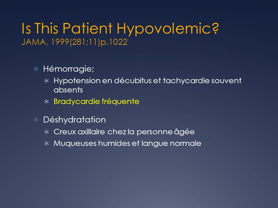 Is This Patient Hypovolemic JAMA, 1999(281;11)p.1022