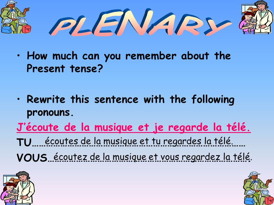 PLENARY How much can you remember about the Present tense