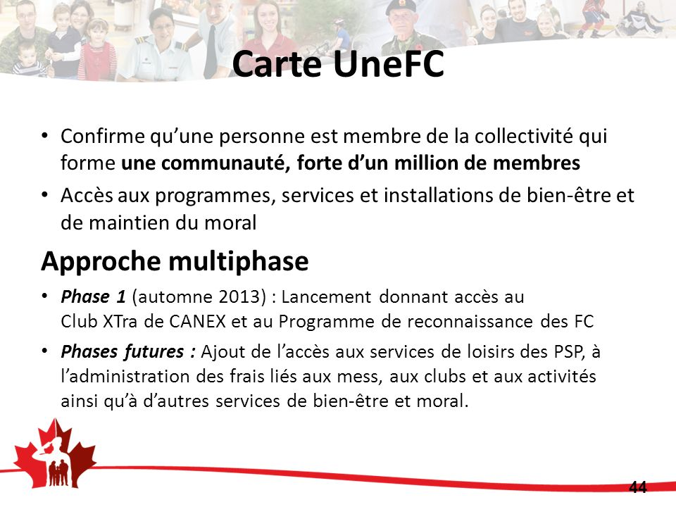 Carte UneFC Approche multiphase