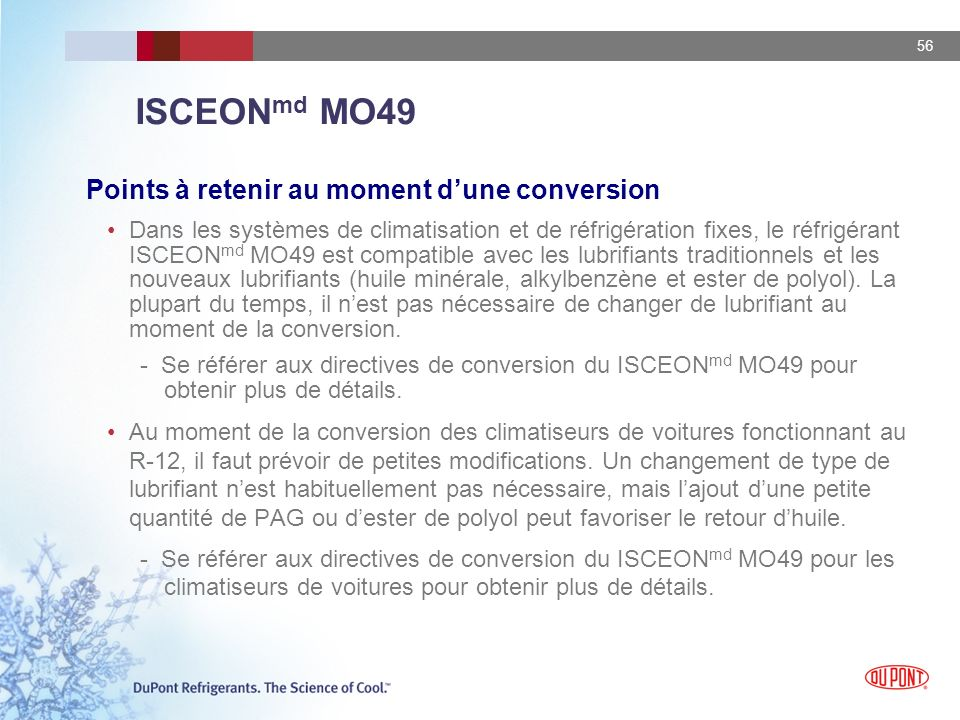 ISCEONmd MO49 Points à retenir au moment d'une conversion