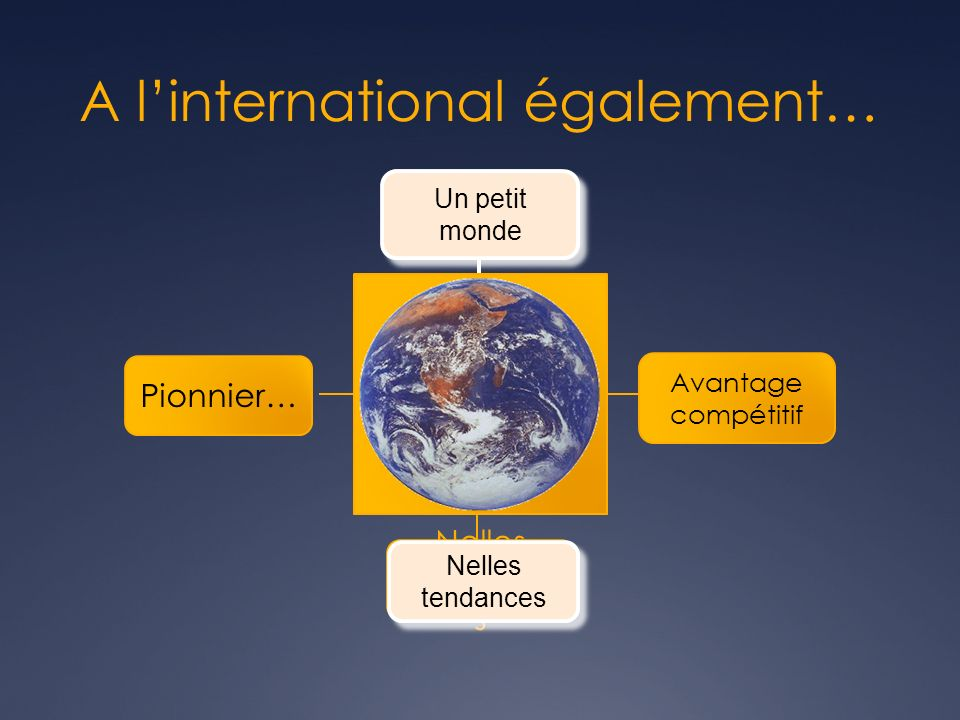 A l'international également…