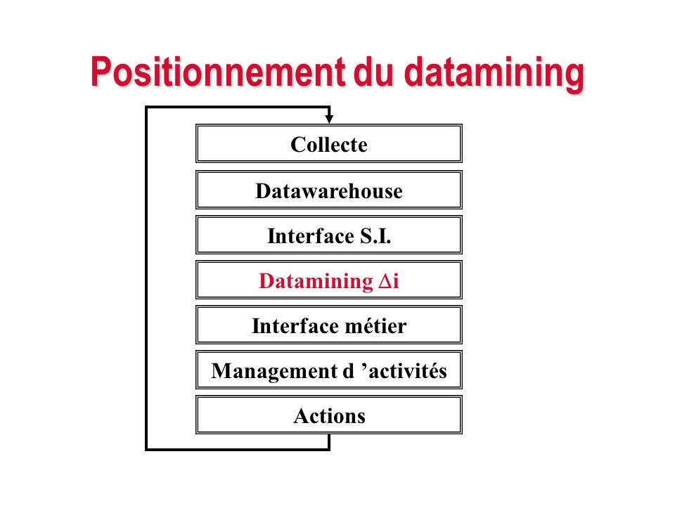 Positionnement du datamining