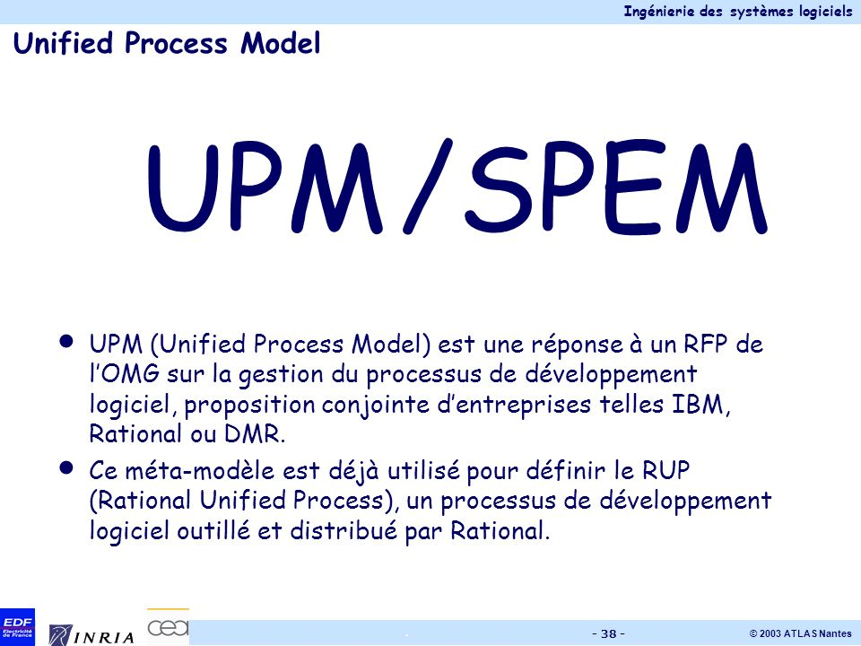 UPM /SPEM Unified Process Model