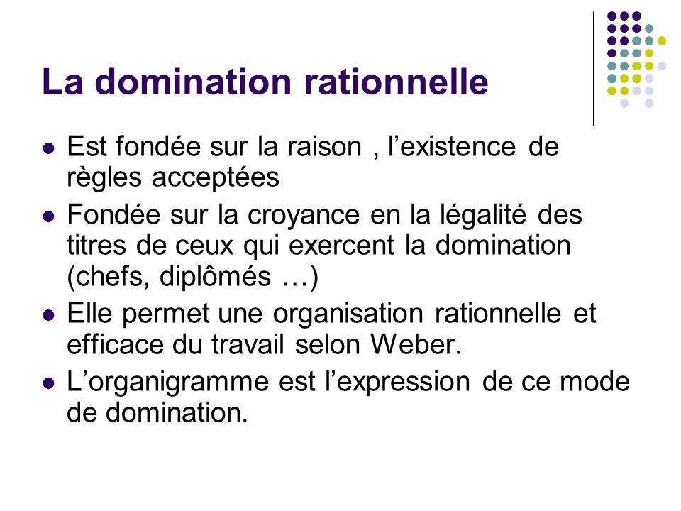 La domination rationnelle