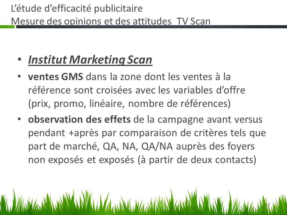 Institut Marketing Scan