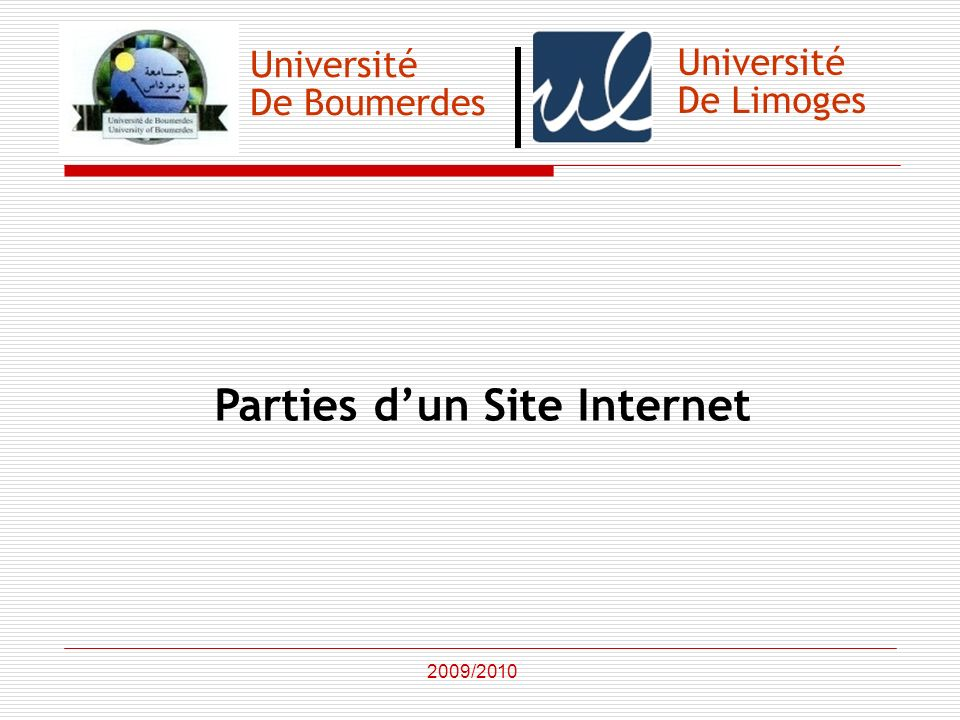 Parties d'un Site Internet