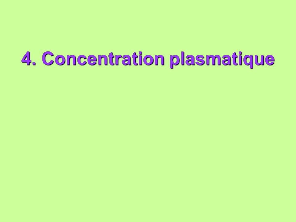 4. Concentration plasmatique