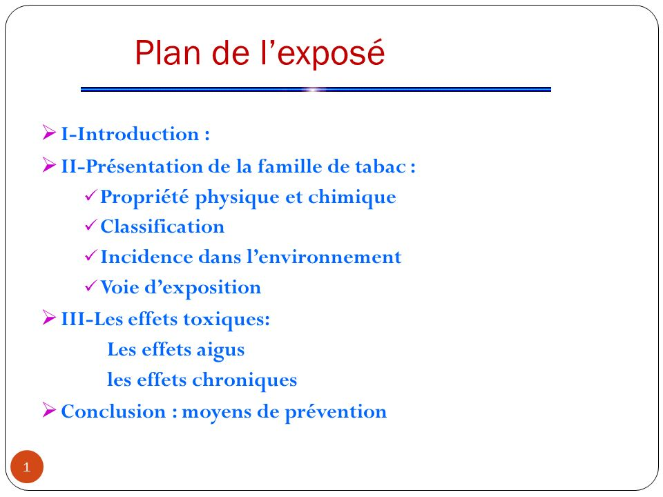 Plan de l'exposé I-Introduction :