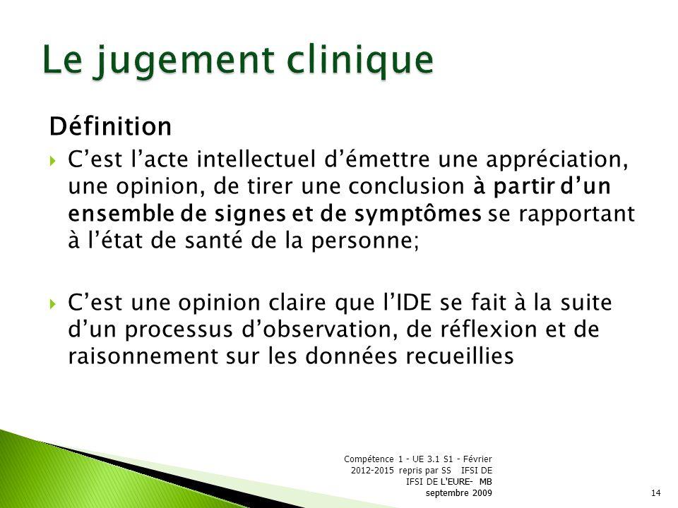 raisonnement clinique jugement clinique diagnostic infirmier
