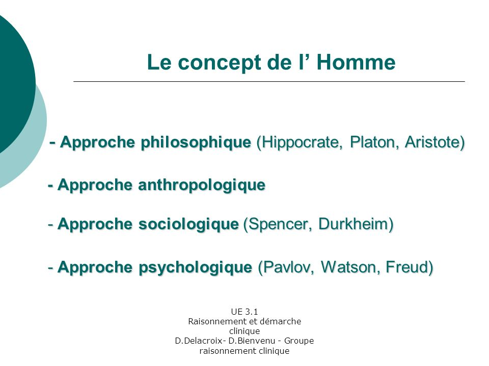 - Approche anthropologique - Approche sociologique (Spencer, Durkheim)