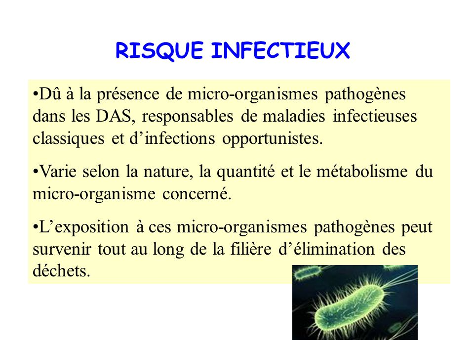 RISQUE INFECTIEUX