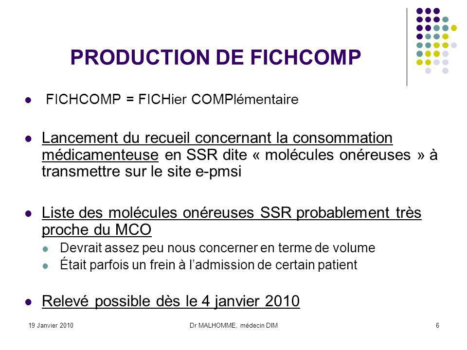 PRODUCTION DE FICHCOMP