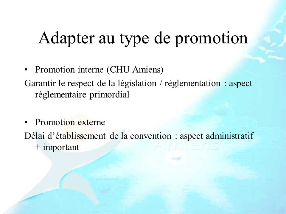 Adapter au type de promotion