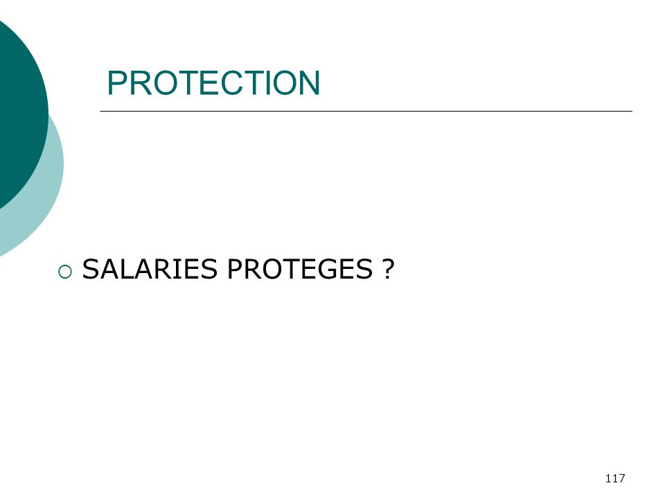 PROTECTION SALARIES PROTEGES