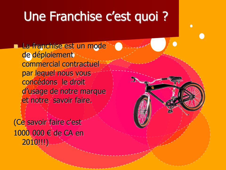 la franchise chez california beach cycle ppt t l charger. Black Bedroom Furniture Sets. Home Design Ideas