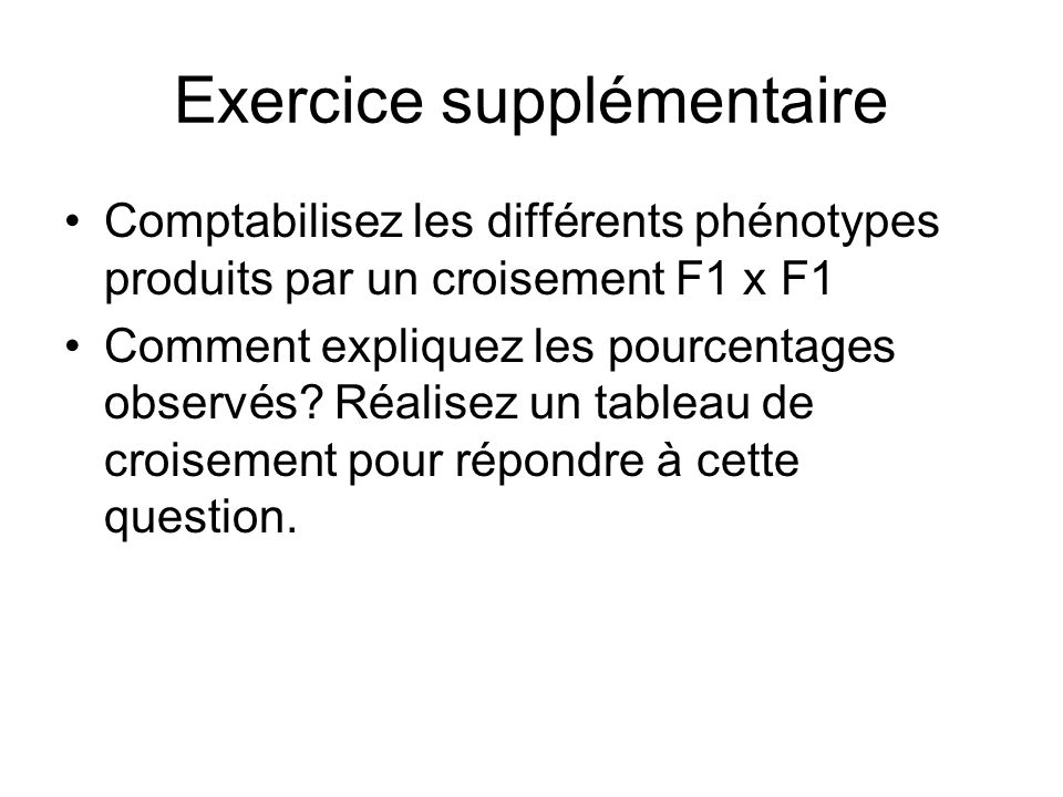Exercice supplémentaire