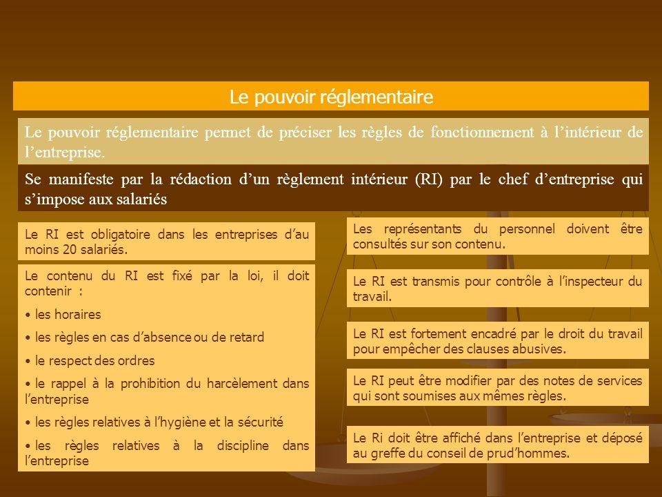 490f24e2929 Les pouvoirs de l employeur - ppt video online télécharger