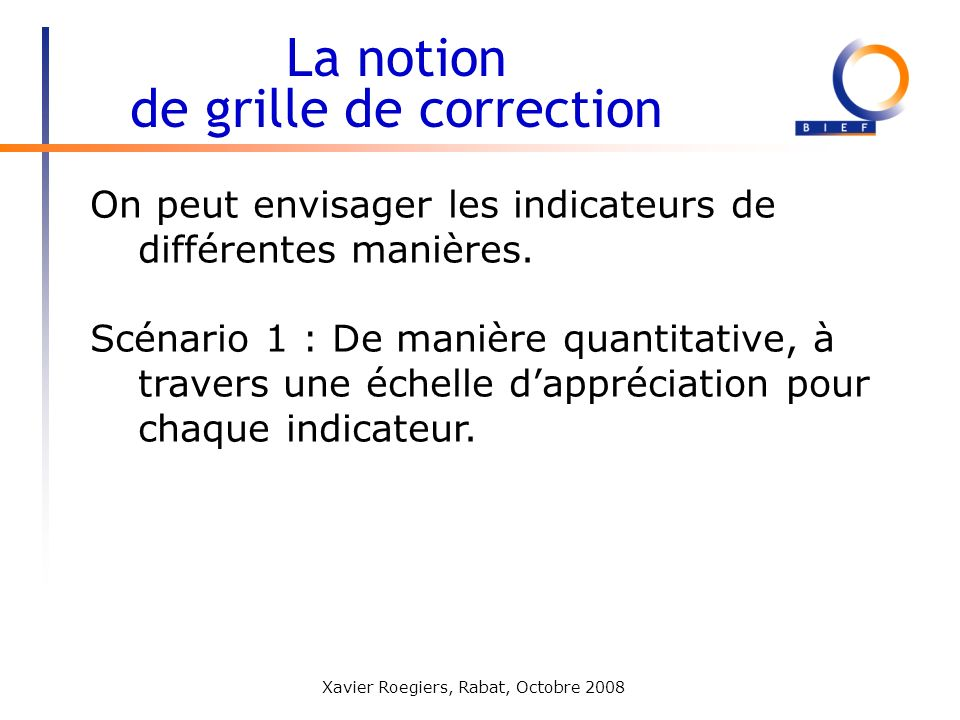 La notion de grille de correction