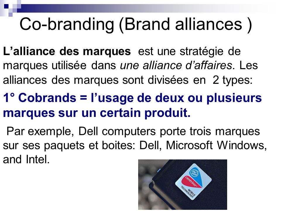 Co-branding (Brand alliances )