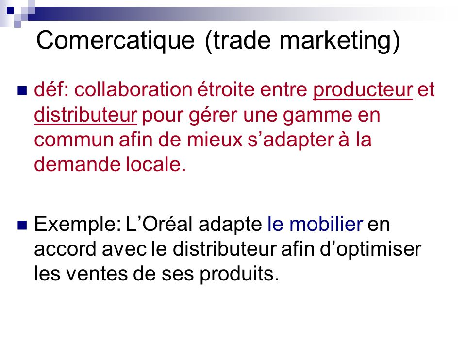 Comercatique (trade marketing)