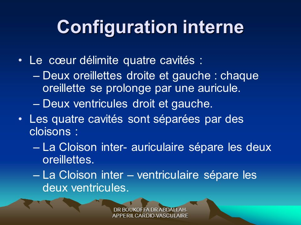 Configuration interne