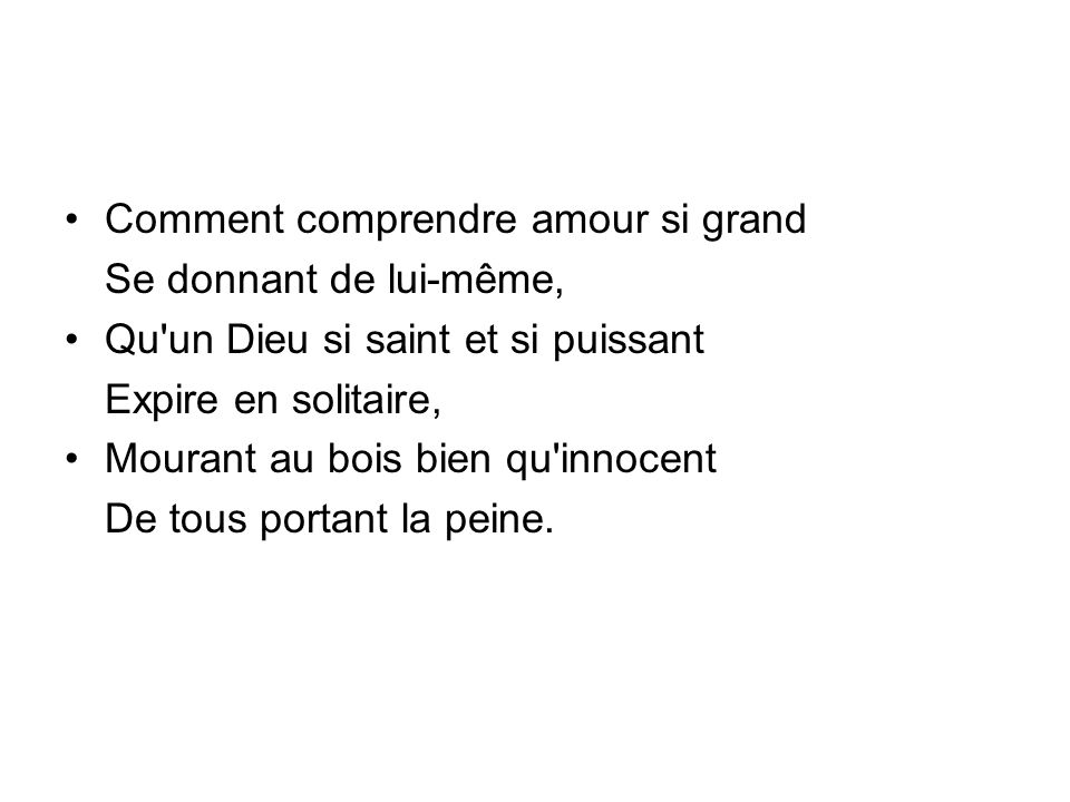 Comment comprendre amour si grand