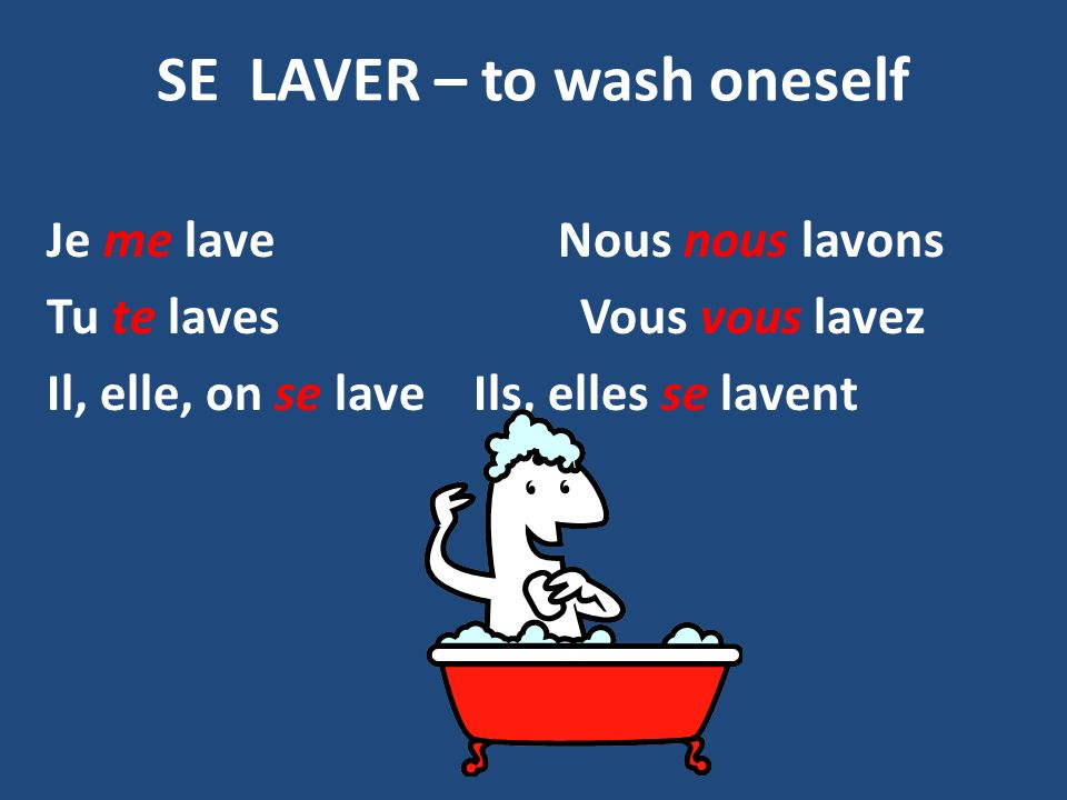 SE LAVER – to wash oneself