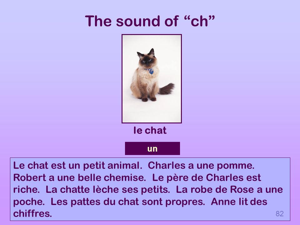 The sound of ch le chat