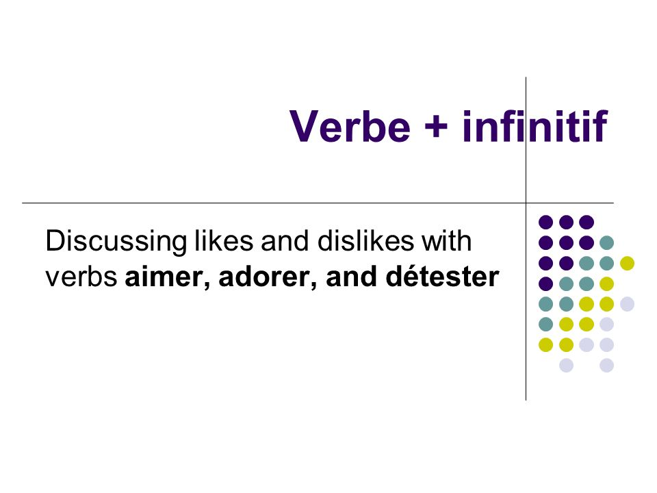 Discussing likes and dislikes with verbs aimer, adorer, and détester