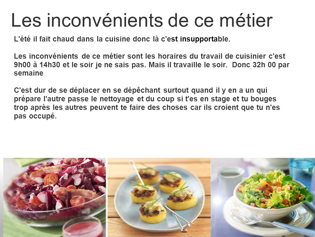 100 Génial Concepts Quel Sont Les Inconvénients Du Métier De Cuisinier